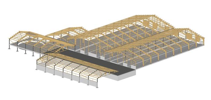 b timent agricole constructions bois emg charpente bois lamell coll ossature et bardage bois. Black Bedroom Furniture Sets. Home Design Ideas