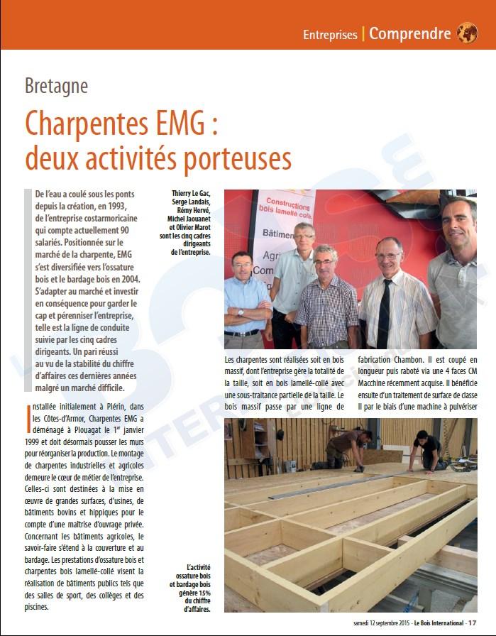 Extrait du portrait de EMG dans Bois International